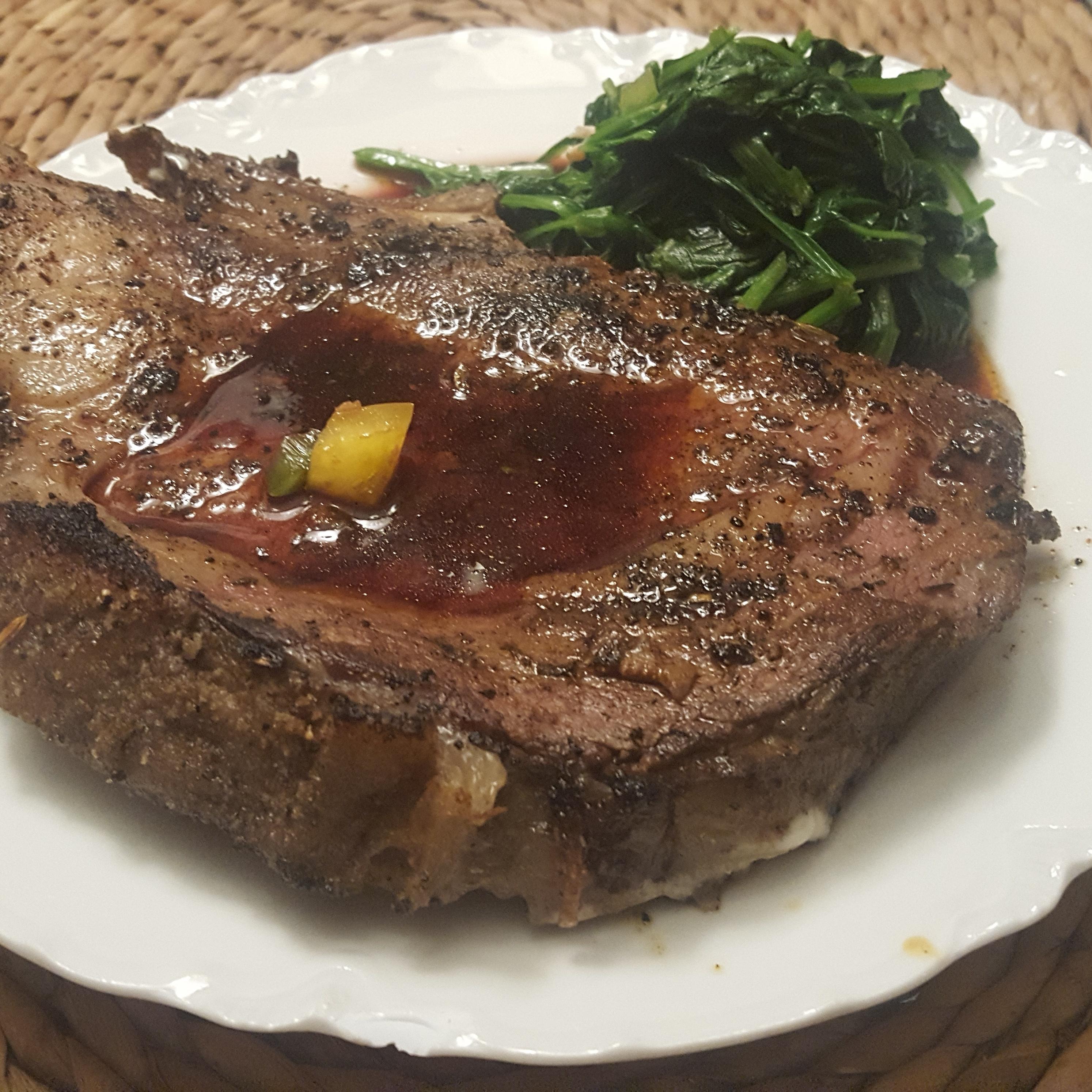 Thick Cut Blackened Prime Rib Steak Boar S Head Restaurant Pcb Dine At Boar S Head Pcb