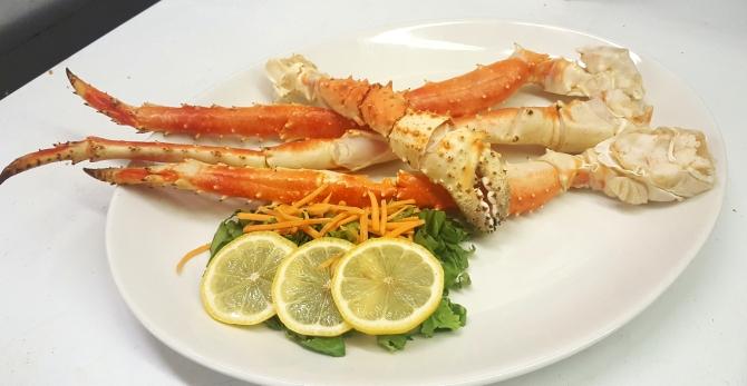 Alaskan King Crab Legs Boars Head Restaurant PCB FL