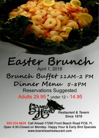 2018 Easter Brunch Buffet-Boarss Head Restaurant