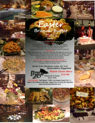 Easter Menu with Pictures 2018